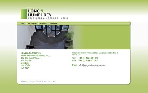 Screenshot of Contact Page longandhumphrey.com - Contact Us : Long & Humphrey - captured Oct. 3, 2014