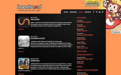 Screenshot of Press Page handsound.com captured Sept. 30, 2014