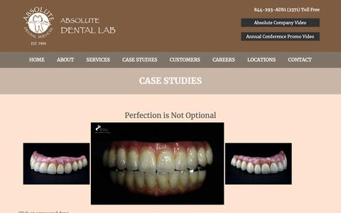 Screenshot of Case Studies Page absolutedentalservices.com - Case Studies  |  Absolute Dental - captured Dec. 5, 2018