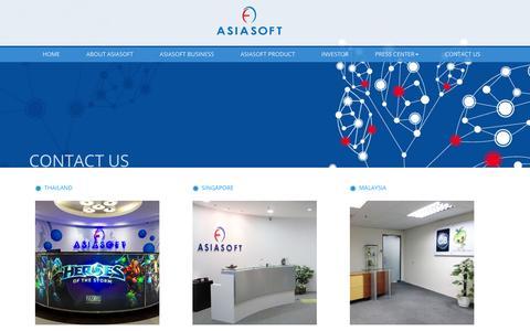 Screenshot of Contact Page asiasoft.net - Contact - Asiasoft Corporation - captured Feb. 6, 2016