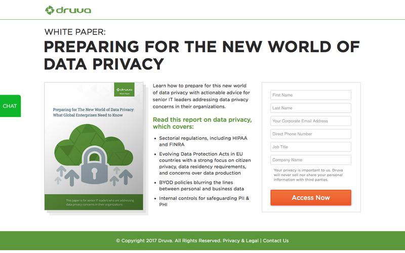 White paper - Is the Enterprise Ready for The New World of Data Privacy? | Druva inSync
