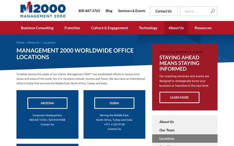 Screenshot of Locations Page mgmt2000.com - Locations | Worldwide Business Consulting | Management 2000 - captured Nov. 19, 2016