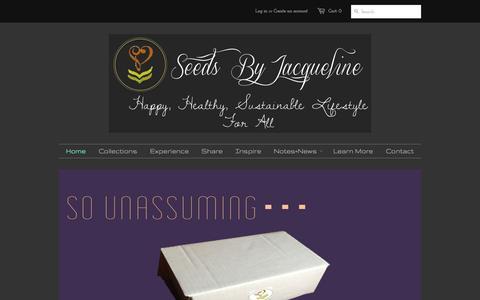 Screenshot of Home Page seedsbyj.com - Seeds By Jacqueline - captured Oct. 7, 2014