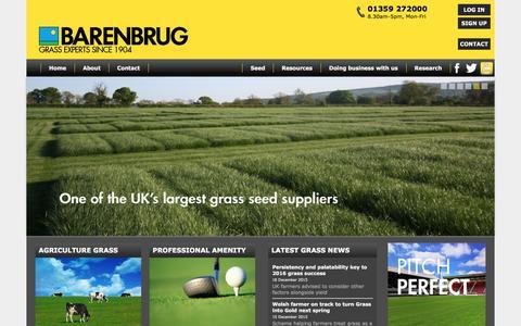 Screenshot of Home Page barenbrug.co.uk - Barenbrug UK | Grass Seed For Amenity, Agriculture, Domestic & Equestrian Use - captured Dec. 29, 2015