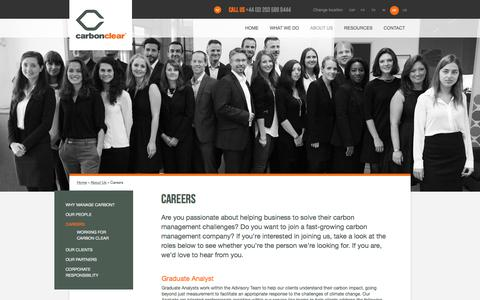 Screenshot of Jobs Page carbon-clear.com - Careers  | Carbon Clear - captured Oct. 21, 2016