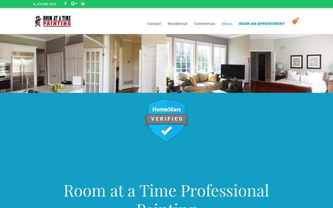 Screenshot of About Page roomatatimepainting.com - About   Room At a Time Painting - captured Oct. 20, 2018