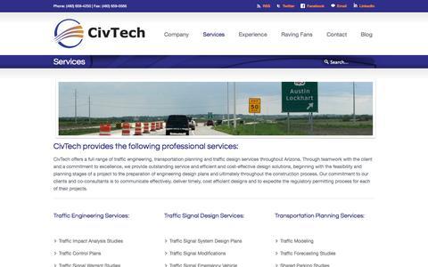 Screenshot of Services Page civtech.com - Services «  Civtech - captured Oct. 2, 2014