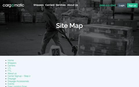 Screenshot of Site Map Page cargomatic.com - Sitemap - Cargomatic - captured Sept. 5, 2016