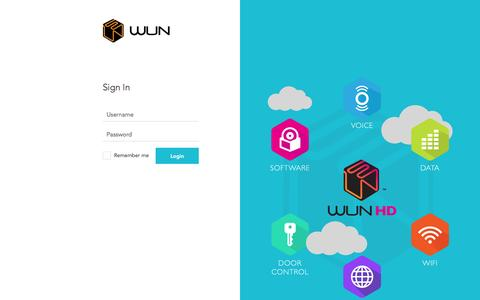 Screenshot of Login Page wunsystems.com - Login - Wun Systems WUN Systems | Voice, Internet, Software for Workspaces - captured March 20, 2016