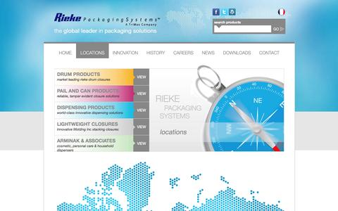 Screenshot of Locations Page riekepackaging.com - Rieke Packaging Systems | Global Locations | Contact us - captured Oct. 26, 2014