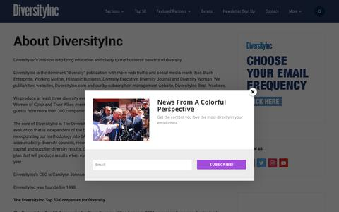 Screenshot of About Page diversityinc.com - About DiversityInc - DiversityInc - captured July 20, 2019