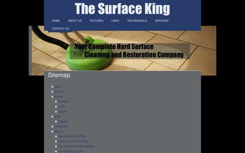 Screenshot of Site Map Page thesurfaceking.org - The Surface King - Hard Surface Cleaning, Tile and Grout Cleaning, ETS 180, Carpet Cleaning - captured Sept. 30, 2014