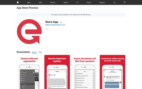 Red e App on the AppStore