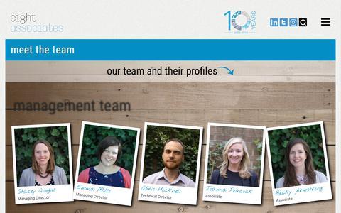 Screenshot of Team Page eightassociates.co.uk - Team - Eight Associates - captured Nov. 4, 2018