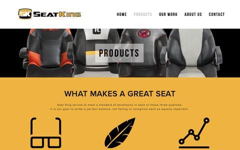 Screenshot of Products Page seatkingllc.com - Products Ń Seat King LLC - captured Jan. 12, 2016