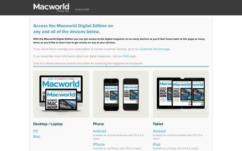 Screenshot of Maps & Directions Page macworld.com - Macworld - Magazine - Directions - captured Aug. 30, 2017