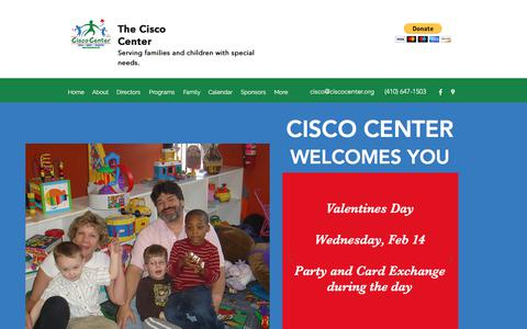 Screenshot of Home Page ciscocenter.org - Home | The Cisco Center - captured Feb. 4, 2018