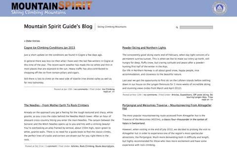 Screenshot of Blog mountain-spirit-guides.com - Mountain Spirit Guide's Blog - captured Sept. 30, 2014
