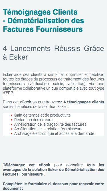 Dématérialisation des factures fournisseurs : découvrez les résultats obtenus par les clients ESKER