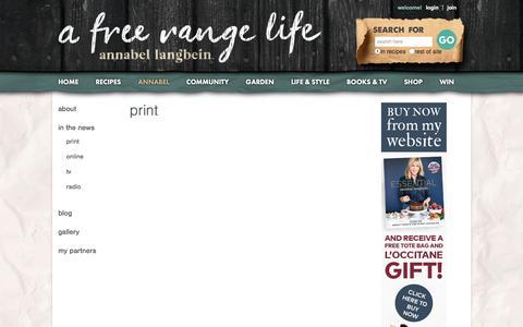 Screenshot of Press Page annabel-langbein.com - Annabel Langbein – Media - captured Sept. 23, 2018