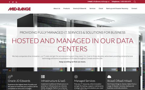 Screenshot of Home Page midrange.ca - Managed IT Services | Mid-Range - Mid-Ranged Managed IT Services - captured Oct. 18, 2017