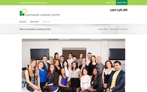 Screenshot of About Page australianlendingcentre.com.au - About Us - Australian Lending Centre - captured Dec. 27, 2015