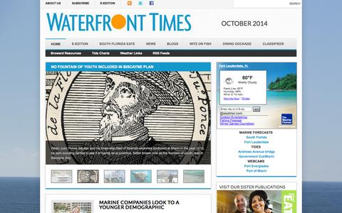 Screenshot of Home Page waterfronttimes.com - Waterfront Times - captured Oct. 7, 2014