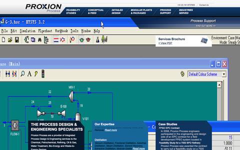 Screenshot of Home Page proxionprocess.com - Proxion Process | Process Design & Engineering Specialists - captured Dec. 14, 2015