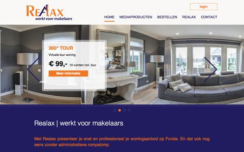 Screenshot of Home Page realax.nl - Realax - captured Jan. 26, 2015