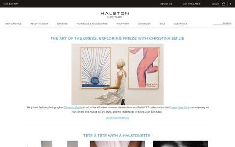 Screenshot of Blog halston.com - Blog - captured May 14, 2017
