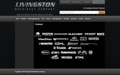 Screenshot of Products Page livingstonmachinery.com - Products Livingston Machinery Company - captured Jan. 23, 2016