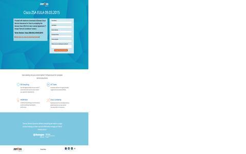Screenshot of Landing Page zenoss.com captured April 27, 2017