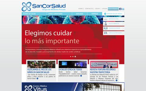 Screenshot of Home Page sancorsalud.com.ar - | Sancor Salud - captured Sept. 24, 2018