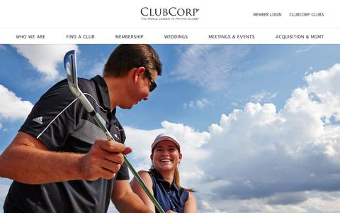 Screenshot of Jobs Page clubcorp.com - Careers | ClubCorp - captured Sept. 20, 2018