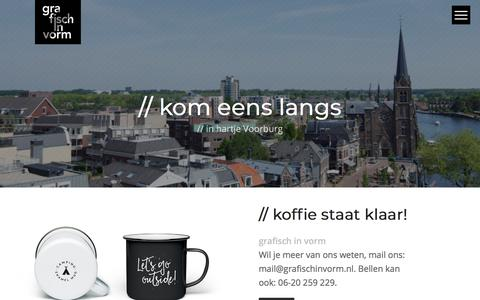 Screenshot of Contact Page grafischinvorm.nl - contact – Grafischinvorm - captured July 23, 2018