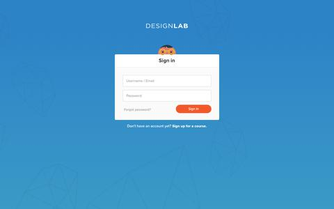 Screenshot of Login Page trydesignlab.com - Sign in to Designlab - captured Oct. 1, 2018