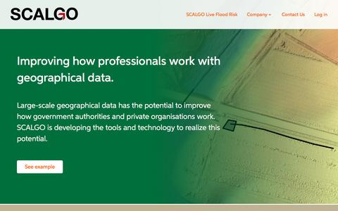 Screenshot of Home Page Login Page scalgo.com - SCALGO Home - Scalable Algorithmics - captured July 20, 2016