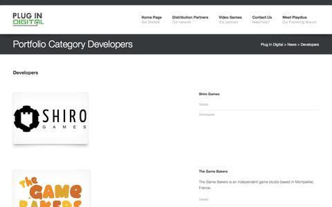 Screenshot of Developers Page plug-in-digital.com - Developers | Portfolio Category | Plug In Digital - captured July 19, 2018