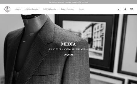 Screenshot of Press Page jhcutler.com - PRESS – J.H. Cutler Bespoke Tailor & Shirt Maker Est. 1884 - captured Sept. 7, 2017