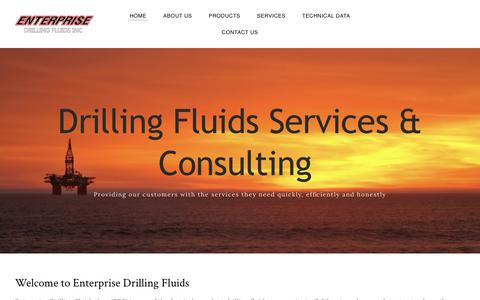 Screenshot of Home Page enterprisedrillingfluids.com - Enterprise Drilling Fluids Bakersfield, CA - captured July 19, 2018