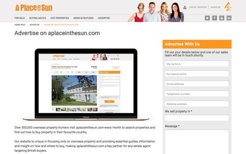 Advertise Overseas Properties on APlaceintheSun.com