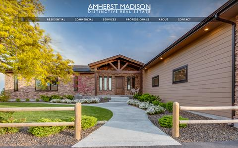 Screenshot of Home Page amherstidaho.com - One & Only  - AMHERST MADISON - Boise Real Estate - captured Sept. 10, 2015
