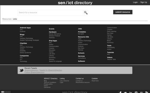 Screenshot of Jobs Page senict.com - sen/ict - Jobs - captured Feb. 13, 2016