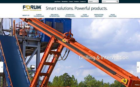 Screenshot of Home Page f-e-t.com - Forum Energy Technologies - captured Oct. 10, 2014