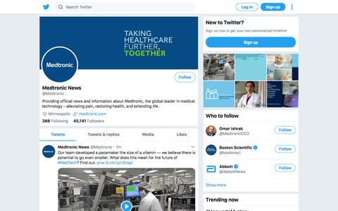 Tweets by Medtronic News (@Medtronic) – Twitter
