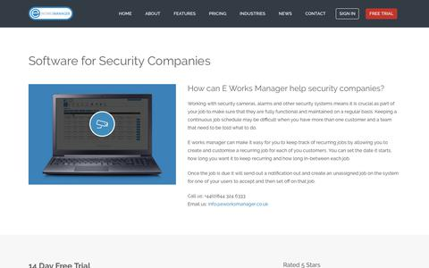 E Works Manager - Software for security companies