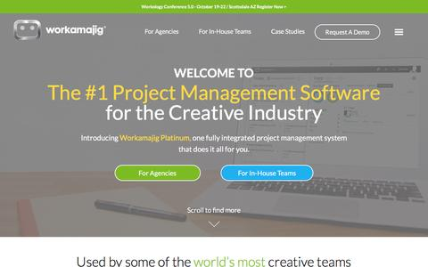 Screenshot of Home Page workamajig.com - Creative Project Management Software | Workamajig - captured June 25, 2016