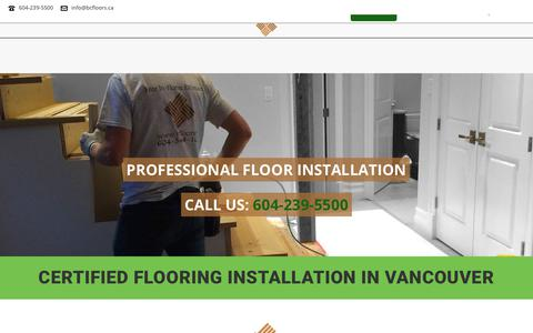 Screenshot of Services Page bcfloors.ca - BC FLOORS® Flooring Installation Vancouver. Certified All Floor Installers - captured Oct. 4, 2018
