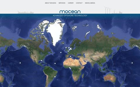 Screenshot of Home Page mocean-offshore.com captured Oct. 7, 2014