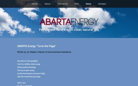 Screenshot of Press Page abartaenergy.com - News — ABARTA Energy - captured Nov. 19, 2016